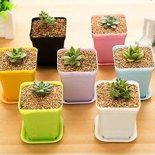7pcs Mini Plastic Flower Plant Pot Home Office Decoration Nursery Garden Pot