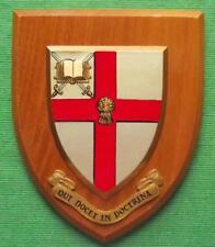 Heraldic Hand Painted University of Chester Academic Crest Shield Plaque