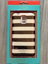 Kate Spade Hybrid Hardshell Case Striped Cream Black for Samsung Galaxy S5