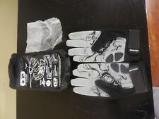 "Planet Eclipse Full Finger Gloves M Distortion ""Never Lose a Game"" Black & Grey"
