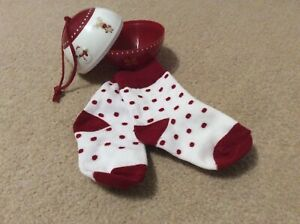 Brand New Christmas Bauble Decoration with Socks 1-2 Years
