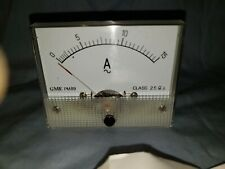 New Analog Panel Meter Ac 0 15 Amperes Gme Pm89 Class 25