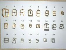 10 Boucles métalliques pour maroquinerie, sacs, ceintures, chaussures,...