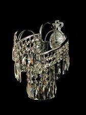 ARCO cristallo lampada da parete con Real cristallo. FIG color Argento (Oro