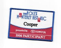 33RD ROLEX MONTEREY HISTORIC DRIVER SEW ON FABRIC BADGE PATCH 2006