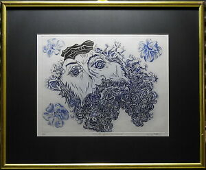 George Gittoes (1949-) Rare Large Original Etching Mail from Vincent Van Gogh