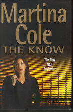 MARTINA COLE - The Know H/B D/J 1st Edn SIGNED