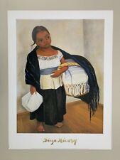 by Diego Rivera   Paper Print Repro Portrait of Sra Dona Elena Flores..
