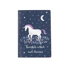 Starlight UNICORN A5 Notebook Note Pad Blank Plain Unlined Paper Journal Gift