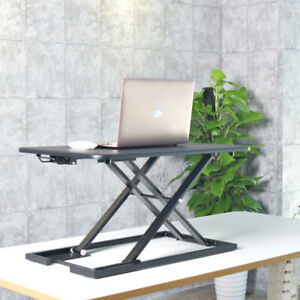 Height Adjustable Sit Stand Desk Riser 730mm Wide for Laptop Computer Monitor