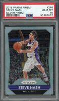 Steve Nash Phoenix Suns 2015 Panini Silver Prizm Basketball Card #246 PSA 10