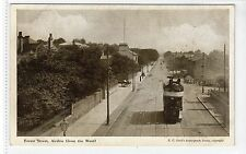 FOREST STREET, AIRDRIE: Lanarkshire postcard with tram (C18737)