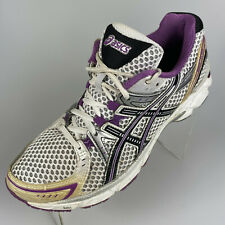 $79 ASICS GEL-1170 Women Size 9 US Athletic Running Shoes Gray Purple/Gold T1P5N