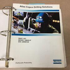 Atlas Copco Dm45 Rotary Blasthole Drill Rig Parts Manual Book Catalog List Guide