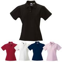 Women's Classic Polo Top Short Sleeve T-Shirt Plain Shirt 100% Pima Cotton