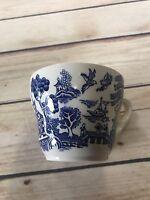 English Tea Cup Coffee Mug Blue and White Made In England