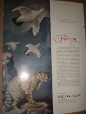 Midland Bank John Leigh Pemberton art advert Wild Cat February 1964 ref AY