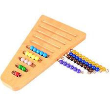 Genuine Montessori Math Manipulative Kindergarten Color Bead Arranging Rack Toys