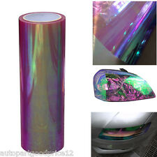 "12""x78"" Chameleon Colorful Purple Car Headlight Taillight Vinyl Tint Film Cover"