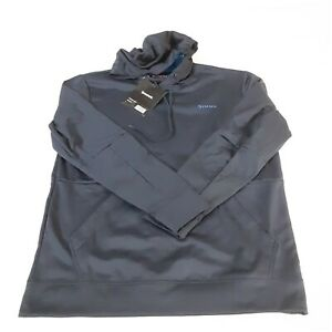 Simms Mens Challenger Hoody Medium Admiral Blue Pullover Pockets New