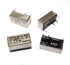 4x Siemens Print-Relais V23040-B0101-B201, bistabil, 2 Spulen 5V, NOS