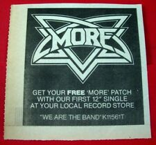 "More We Are The Band Vintage ORIGINAL 1981 Press/Magazine ADVERT 4""x 4"" NWOBHM"