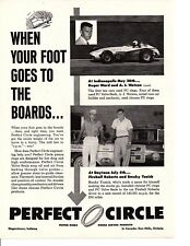 1959 PERFECT CIRCLE PISTON RINGS / WATSON, WARD, YUNICK, ROBERTS ~ ORIGINAL AD
