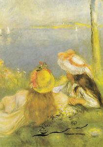 Kunstpostkarte - Renoir:   Mädchen an der Seeküste