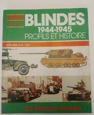 Blindés 1944 1945 profils et histoire 272 profils hachette