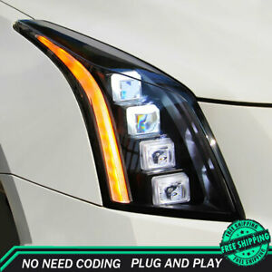For Cadillac ATS Headlights 2013-2018 FULL LED Projector LED DRL Turn Signal