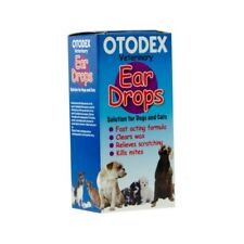 Otodex Vet Ear Drops for Dogs & Cats Clears Wax Relieves Scratching Kills Mites
