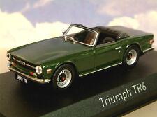 NOREV 1/43 DIECAST 1968-76 TRIUMPH TR6 IN ENGLISH (BRITISH RACING?) GREEN 350093