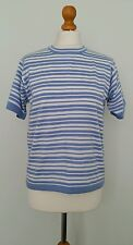 'Jumper' Blue White Striped Short Sleeved Top Size M