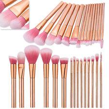 15 Pcs Pinceaux De Maquillage Poudre Fond De Teint Fard à paupières Brosse Set
