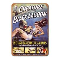 1954 Creature From The Black Lagoon Vintage Tin Sign Metal Decor Metal Sign