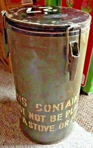 Army circular cooler cylinder.