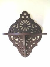 WALNUT WOOD antique SHELF pierced design VICTORIAN Nautical Motif 1800s preowned