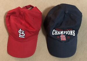 Baseball Cap 2 St Louis Cardinals & STL World Series Champions 2011 Women Red