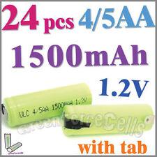 24 4/5 1500mAh AA NiMH 1.2V Rechargeable Battery w/ tab Green