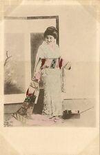 CARTE POSTALE JAPON JAPAN FANTAISIE FEMME JAPONAISE GEISHA