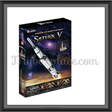 Discover the Secrets of Space Saturn V DIY 3D Jigsaw Puzzles Kids Adult 68 piece