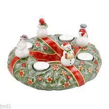Villeroy & Boch CHRISTMAS TOYS MEMORY Snowman Advent Wreath #9411