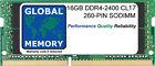 16gb (1x16gbGB) DDR4 2400mhz pc4-19200 260 Pines Sodimm Memoria Para Portátiles