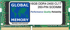 16GB (1x16GB) DDR4 2400MHz PC4-19200 260-PIN SODIMM MEMORY FOR LAPTOPS/NOTEBOOKS