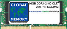 16GB (1x16GB GB)DDR4 2400MHz PC4-19200 260-pin Memoria SoDimm per computer