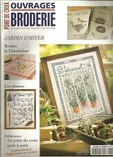 OUVRAGES BRODERIE N°26 LA CHANDELEUR / LES PLUMES / JARDIN D'HIVER
