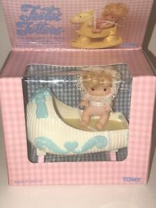 NOS Vintage 1981 TOMY Baby Doll TEETER TOTTERS Wind Up Crib NEW Nursery