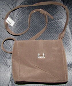 NEW NWT Liz Claiborne Small Fabric Shoulder Bag Purse Polyester Brown $28 Retail