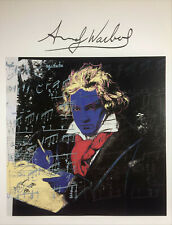 ANDY WARHOL SIGNED * BEETHOVEN * PRINT