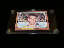 + ( BOBBY ORR ) 1966-67 T #35 HOCKEY RC ROOKIE RP SPORTS CARD....SLABBED